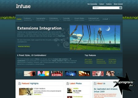Joomla Rockettheme Infuse New October 2009